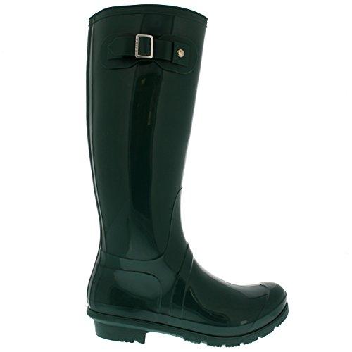 Prodotti Polari Donna Neve Alta Impermeabile Pioggia Cane Cane Fibbia A Piedi Wellington Boot Verde Lucido