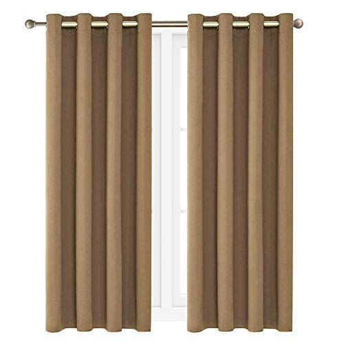 """Victoria Classics Neil 90"""" Blackout Curtains Room Darkening Window Panel That are Thermal Insulated with a Grommet -Energy Saver (One Panel 90"""" x 52"""") (Taupe)"""