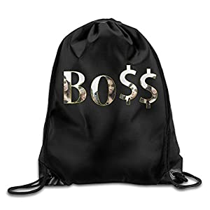 SAXON13 Unisex Fashion Boss Design Drawstring Backpack