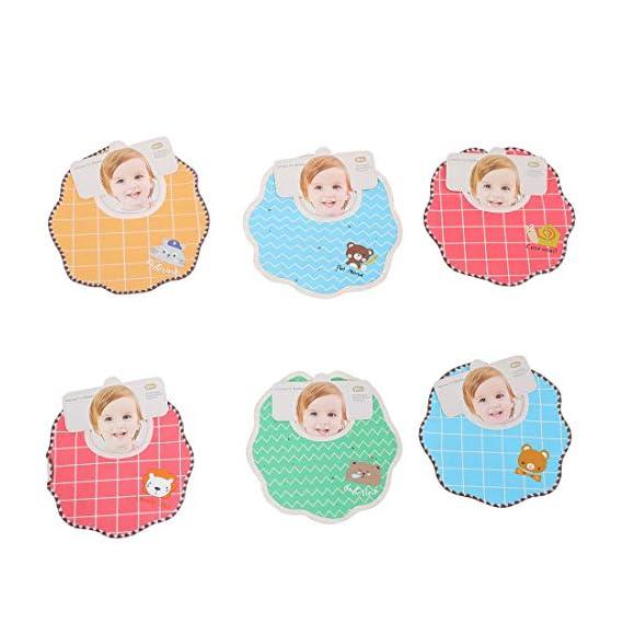 Baybee Baby Bibs- Baby Fast Dry Printed Bibs/Organic Cotton Muslin Bib Waterproof, Washable, Stain and Odor Resistant, 6
