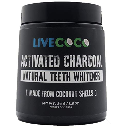 Activated Charcoal for Teeth Whitening, Natural Teeth Whitening Using Coconut Shells, RAW & Food Grade with No Artificial Flavours, 100% Natural, Large Tub, 80g=300 Uses from LiveCoco (Difference Between Positive Attitude And Negative Attitude)