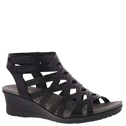 BareTraps Womens Trella Open Toe Casual Ankle Strap Sandals, Black, Size 8.5 from BareTraps