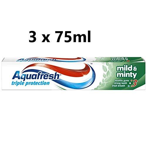 3 Count x Aquafresh Triple Protection Mild & Minty Toothpaste 75ml