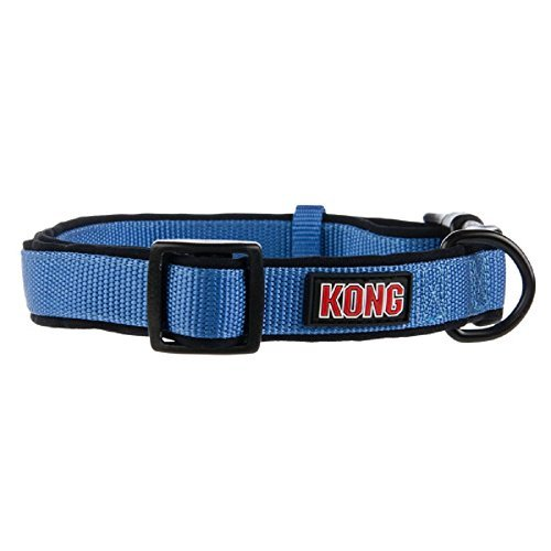 KONG Padded Dog Collar Large Blue
