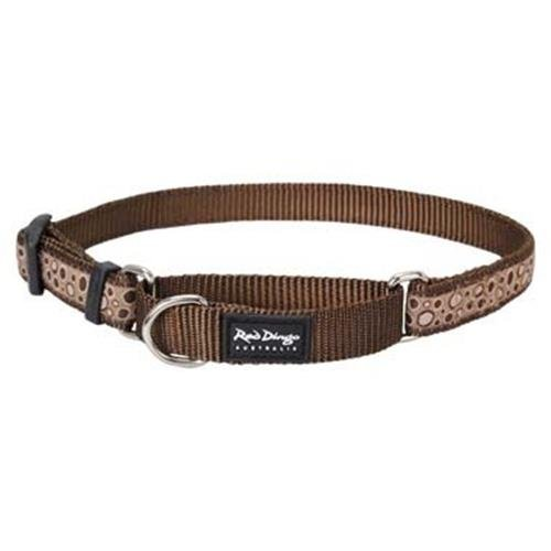 Red Dingo Bedrock Brown Large Martingale Collar