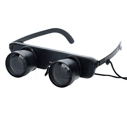 釣り双眼鏡、winnereco 3 x 28メガネスタイル望遠鏡、釣り、アウトドアRecreations (ブラック) B06Y5L72CL
