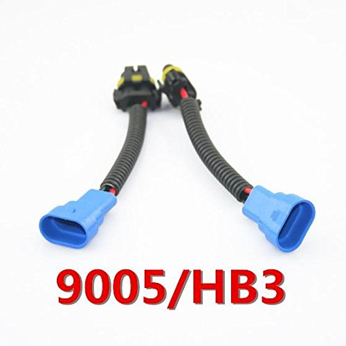 PartsSquare For 9005 HB3 h10 Headlight Extension Sockets Plugs Connectors Harness Wire Cable