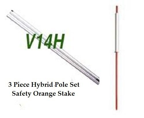 Pink Safety Orange Stake Feather Swooper Flag Banner Kit: 14 Fusion Pole Set Lemonade Wind Guard