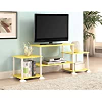 Mainstays No Tools 3-Cube Storage Entertainment Center for TVs up to 40 (Yellow)