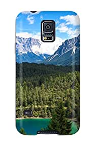 Hot LPKAMXUMBRM8P3W8 For Galaxy Protective Case, High Quality For Galaxy S5 Earth Forest Skin Case Cover