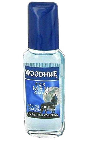 Fragrances of France Woodhue Eau de Toilette Spray for Men, 1 Oz + FREE Assorted Purse Kit/Cosmetic Bag Bonus (Assorted Mens Fragrances)