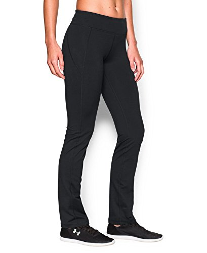 Under Armour Women's Mirror Straight Leg Pant, Black (001), Large