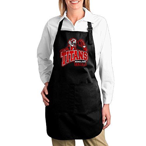 Attack On Titans Logo Cartoon Unisex Kitchen Cooking Grilling Apron Black ()