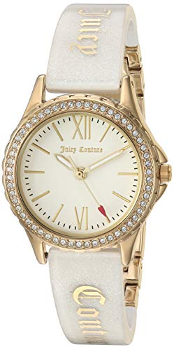- Juicy Couture Black Label Women's JC/1068IVGB Swarovski Crystal Accented Gold-Tone and Ivory Shimmer Resin Bangle Watch