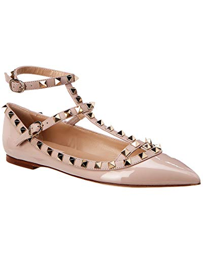 Valentino Cage Rockstud Patent Ballerina Flat, 39, for sale  Delivered anywhere in USA