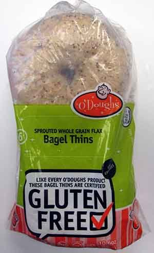 ODoughs Sprouted Whole Grain Flax Gluten-Free Bagel - Seed Oil Salba