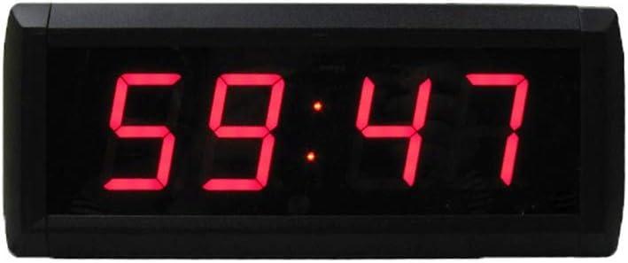カウンター デジタイマ タイマー付きカウントダウンタイマーウォールクロック1.8インチLEDデジタルジムフィットネストレーニングタイミングクロック タイマー バイブ (色 : ブラック, サイズ : 25X10X4CM) ブラック 25X10X4CM