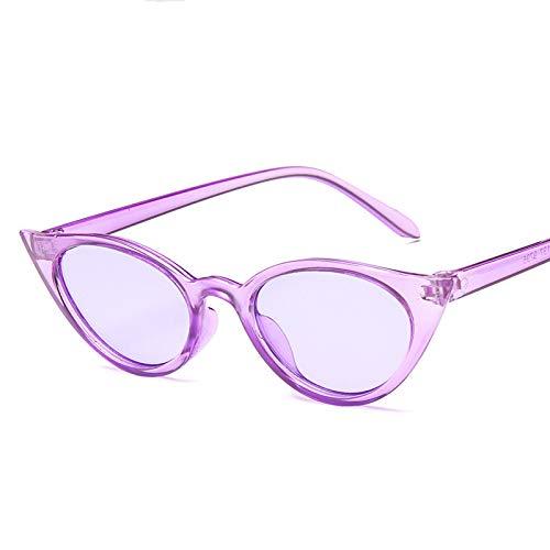 Femmes Lunettes Soleil Platic Black Yeux Chat Xmdnye De Purple Hot OS44p