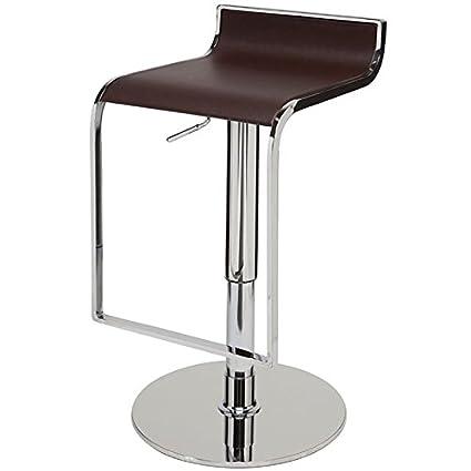 Astonishing Amazon Com Nuevo Alexander Adjustable Leather Bar Stool In Short Links Chair Design For Home Short Linksinfo