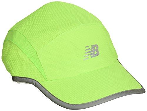 New Balance 5 Panel Performance Hat, Energy Lime, One - New Running Balance Hat
