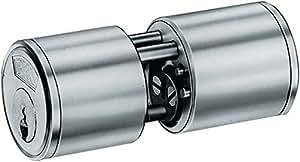 BKS 31070261 - Cerradura tubular (superficie niquelada, 29/29 mm, con 3 llaves)