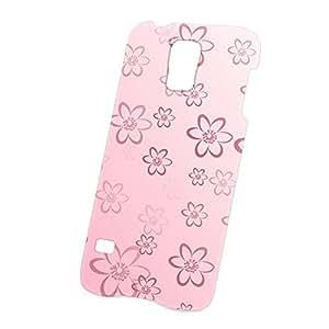 Case Fun Samsung Galaxy S5 (i9600) Case - Ultra Slim Version - Full Wrap Edge to Edge Print - Pink Daisy Pattern