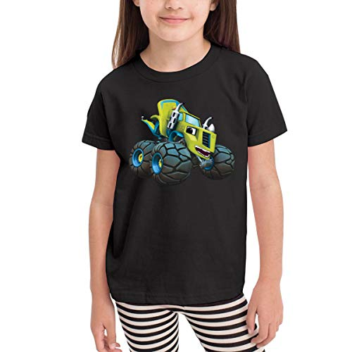Rusuanjun Blaze and The Monster Machines Children's T-Shirt Black 2T Fun and Cute]()