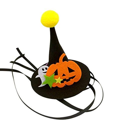 Guajave 애완 동물 모자-할로윈 파티 애완 동물 모자-유령 호박 머리 장식-피복 모자-작은 고양이 재미 있는 할로윈 의상 / Guajave Pet Hats - Halloween Party Pet Hats - Ghost pumpkin headdress - Cloth hats - Small dog cat funny Halloween ...
