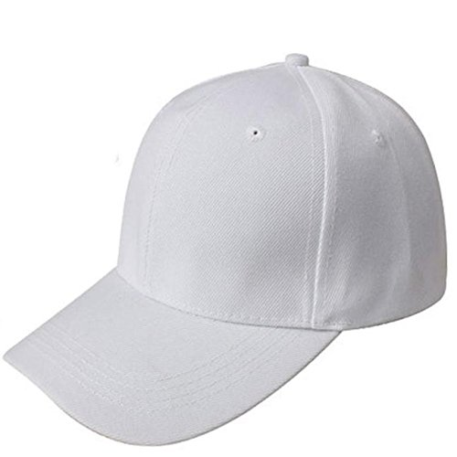 UOFOCO Baseball Cap Blank Hat Solid Color Adjustable Hat White