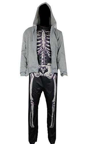 Donnie Darko Skeleton SET (Suit + Hoodie) Coat Adult Costume Jumpsuit (L)