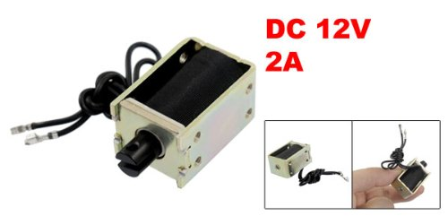 20 mm a12080600ux0089 Uxcell 2A Pull Type Open Frame 1200GF Solenoid Electromagnet DC 12V