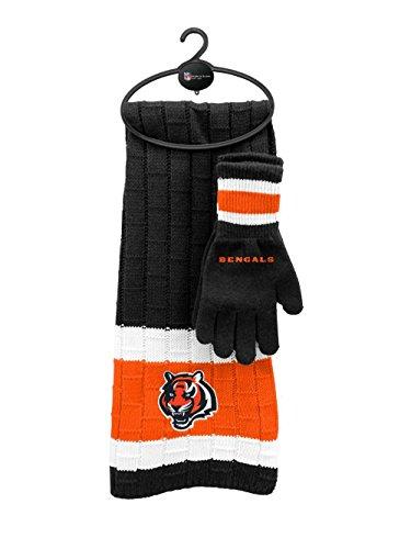 Reebok Football Glove - Cincinnati Bengals Winter Scarf & Glove Set One Size OSFA - Team Colors