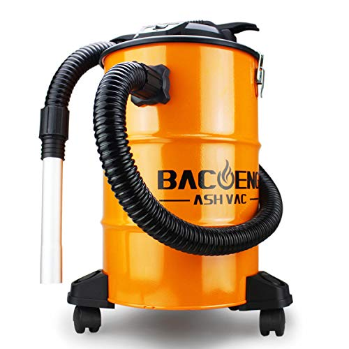 BACOENG Standard 5.3 Gallon 10Amp Ash Vacuum Cleaner with Double Filtration System for Pellet Stoves, Wood Stoves and BBQ Grills