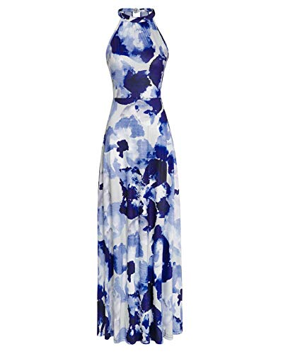 STYLEWORD Women's Off Shoulder Elegant Maxi Long Dress(Floral09,S)