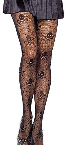 Anmengte Halloween Masquerade Party Cosplay Costume Stocking Treat or Trick (1 pair, black) (Captain Caveman Costume)