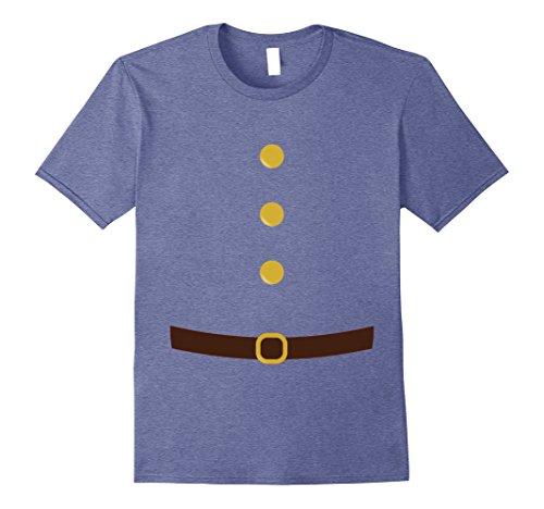 Mens Dwarf Elf Suit Costume Shirt Christmas DIY XL Heather Blue (Diy Doctor Halloween Costume)