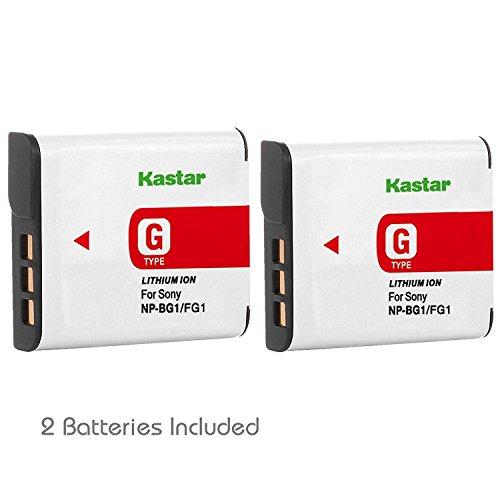 Kastar Battery (2-Pack) for Sony NP-BG1, NP-FG1, BC-CSG and Sony Cyber-shot DSC-H50, Cyber-shot DSC-H10, Cyber-shot DSC-W120, Cyber-shot DSC-W170, Cyber-shot DSC-W300 Digital Cameras
