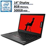 2018 Lenovo ThinkPad T480 Business Laptop - 14 Anti-Glare HD Display, 8th Gen Intel Quad-Core i5-8250U, 500GB HDD, 8GB DDR4, FingerPrint Reader, Webcam, WiFi-AC + BlueTooth, Windows 10 Professional