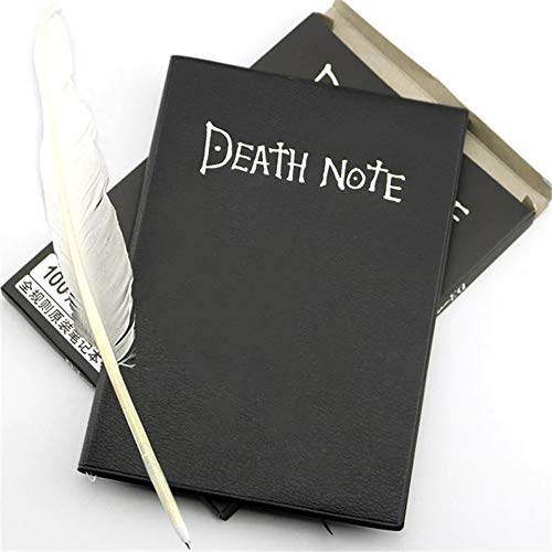 Collectable Death Note Notebook School Large Anime Theme Feather Pen Journal Death Note Pad for Gift