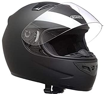 AMX Casco de motocross, color Negro Mate, talla L