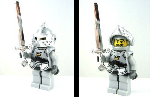 LEGO CASTLE - KNIGHT OF THE ROUND TABLE WITH CHROME SILVER SWORD ...