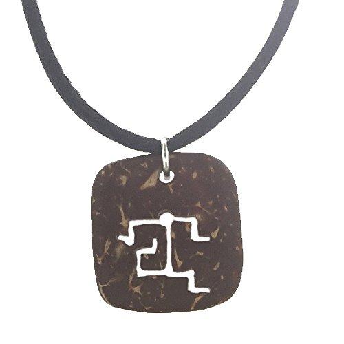 Hawaiian Petroglyph Runner Coconut Shell Pendant from (Hawaii Runner)