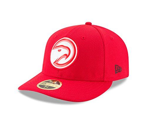 NBA Atlanta Hawks Adult Bevel Team Low Profile 59FIFTY Fitted Cap, 7 5/8, Red (Atlanta Hawks Fitted Cap)
