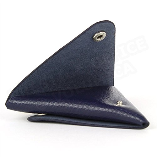 French Triangle Wallet Leather Wallet Luxury Made Blue Made Luxury Triangle Wallet Blue Leather Triangle French Leather pYwx6Cnqt