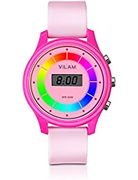 Rainbow Coloured Lights Kids Watch - 7 Colors Flashing...