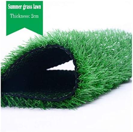 PING- 人工芝マット、 フェイクグラスマット 屋外屋内 合成芝生カーペット 緑の自然の現実的な庭 パイル高さ20mm 2m×5m
