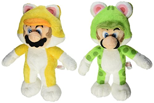Set of 2 Sanei Super Mario 3D World Plush Series Plush Doll ~ 9