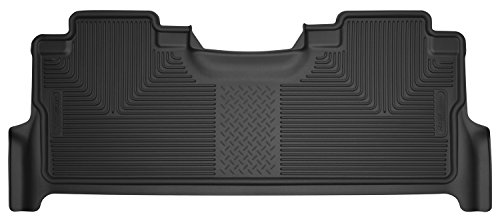Husky Liners 53381 Black Floor Liners - Second Seat Fits 17-19 Ford F-250/350/F450 Crew Cab with Factory Box Black Second Seat Floor Liners