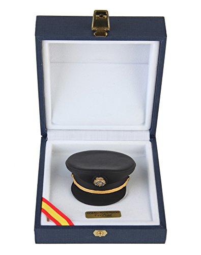 Gorra de plato de Subinspector Policía réplica artesanal pintada a ...