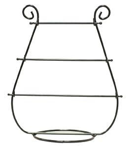 Elegant Harp Shaped Table Top Jewelry Bracelet Display Holder Black Metal